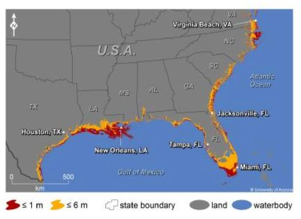 Sea level flooding SE US