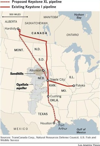 oil spills from the pipeline could contaminate the aquifer keystone and ogallala