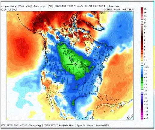 2013 US winter actual