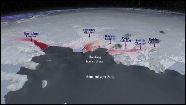 Glaciers of Amundsen Sea Antarctica