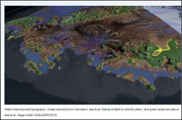 West Antarctica bedrock  topography