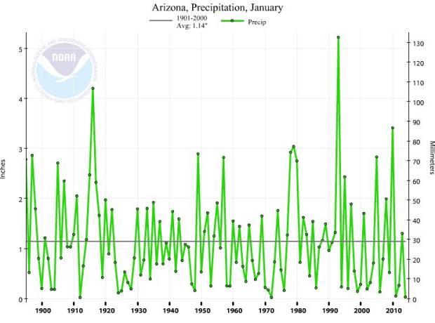 Arizona January precipitation