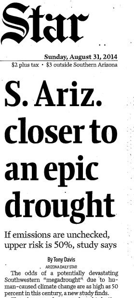 Star drought headline