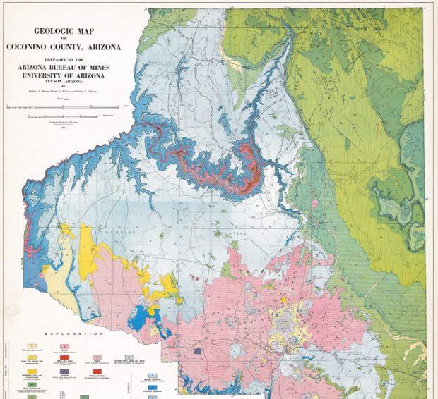 Coconino county geologic map