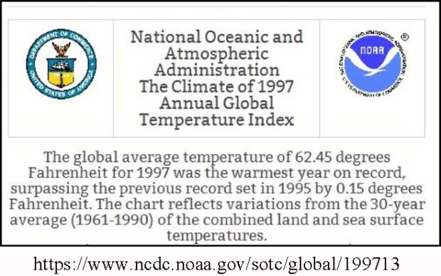 NOAA 1997 global temp