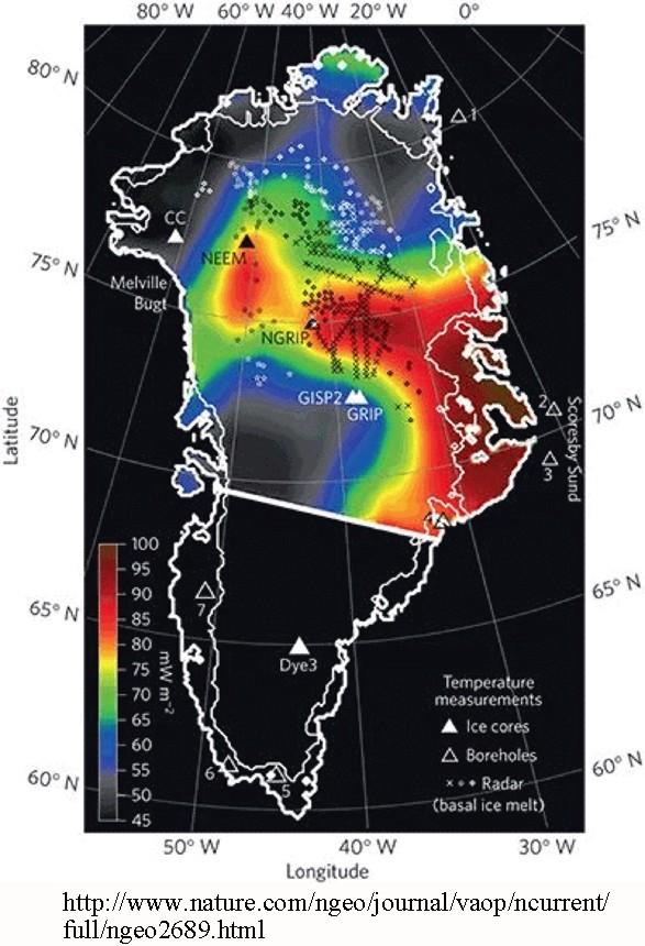 Greenland hot spot