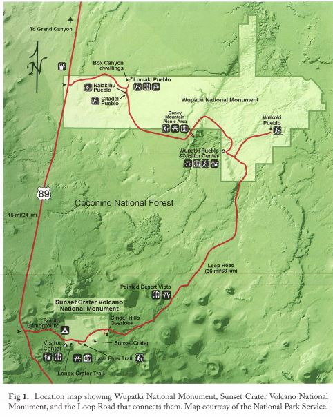Sunset crater map